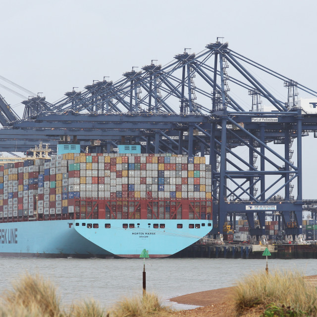 """Felixstowe Port"" stock image"