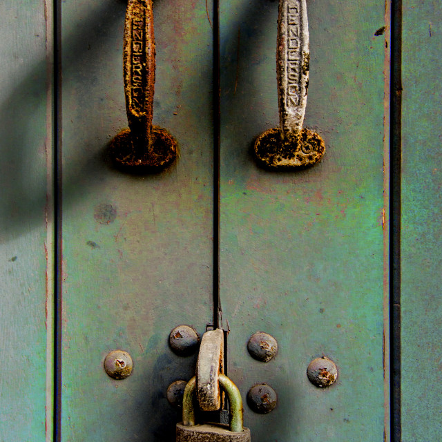 """The locked door"" stock image"
