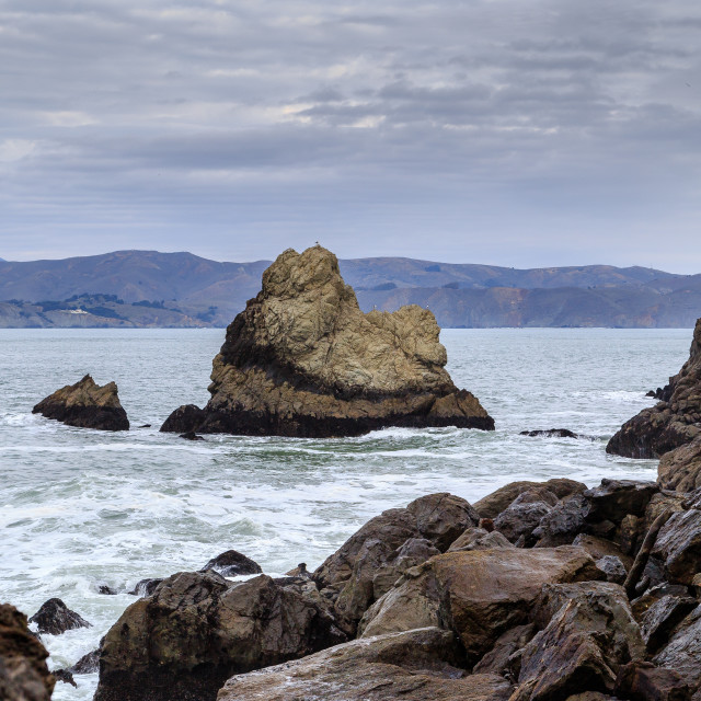 """Off the coast of San Francisco"" stock image"