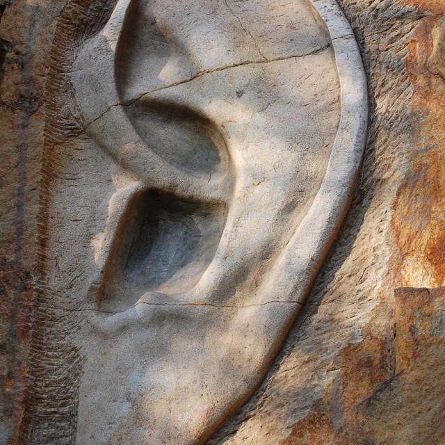 """""""Stone ear, Lipnice village, Czech Republic"""" stock image"""