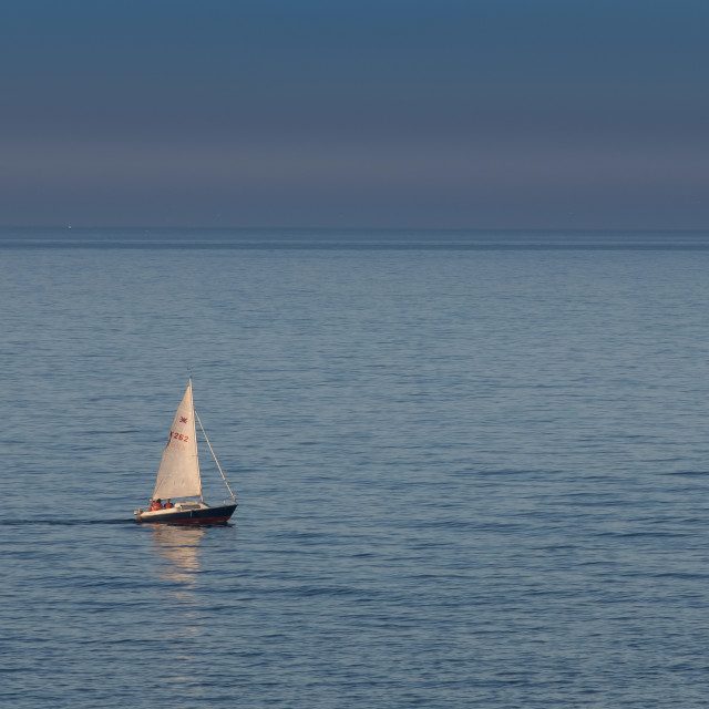 """Lone Yacht"" stock image"
