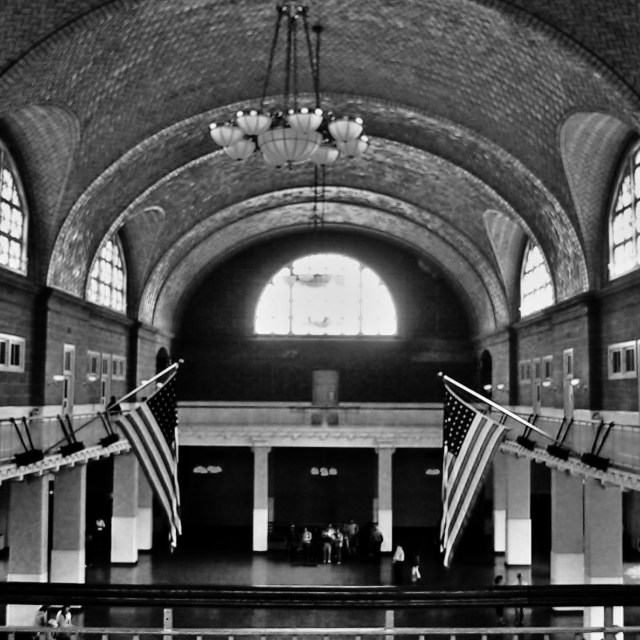"""Ellis Island Immigration Center"" stock image"