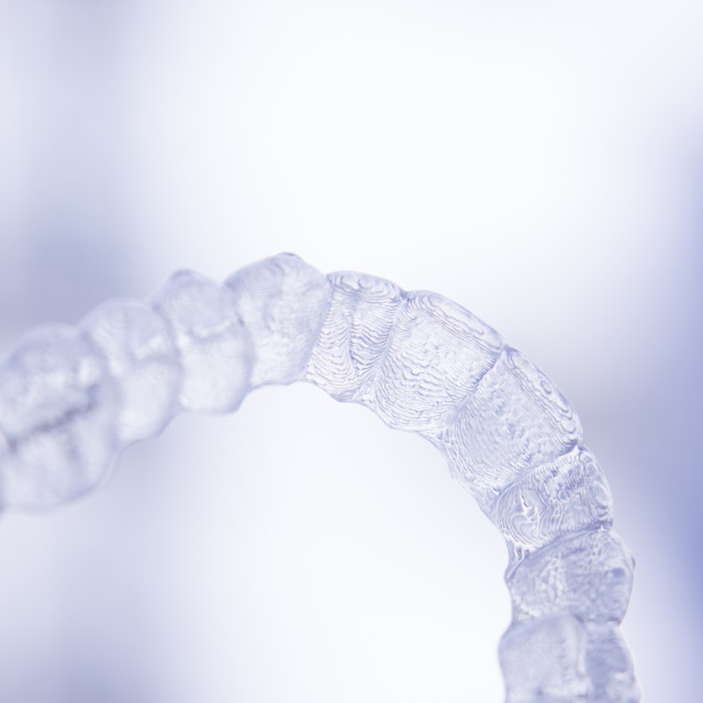 """Dental aligner tooth retainers invisible brace"" stock image"