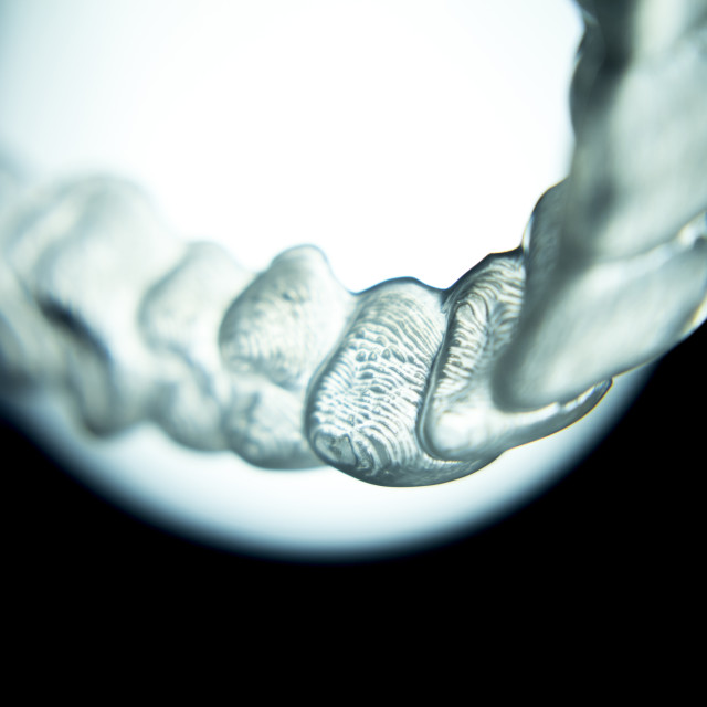 """Dental retainers tooth brackets invisible braces"" stock image"