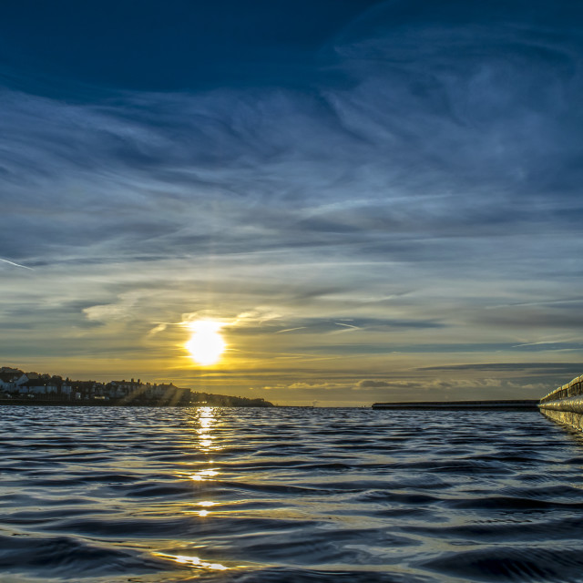 """Sunrise West Kirby"" stock image"