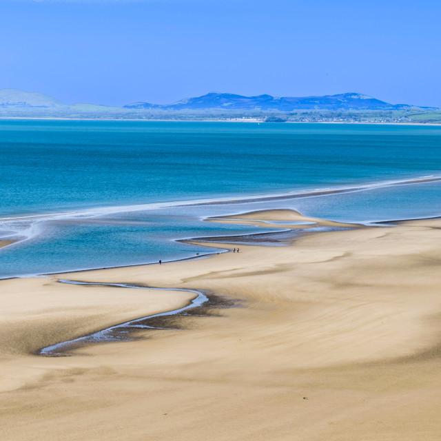 """Harlech beach"" stock image"
