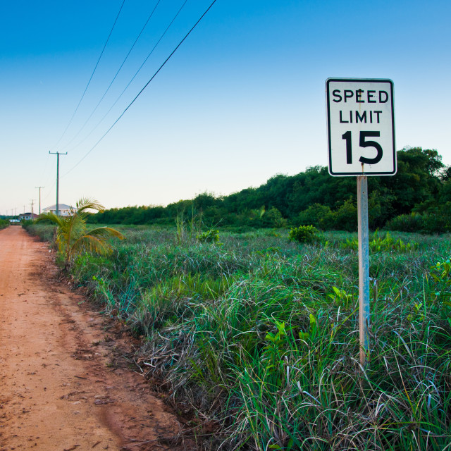 """Speed Limit 15"" stock image"
