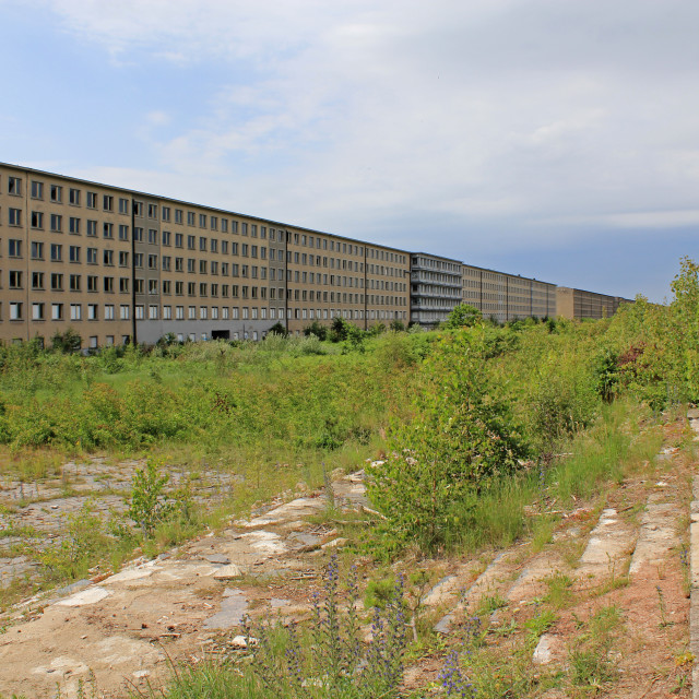 """Building of Prora, ruins of a Nazi resort"" stock image"