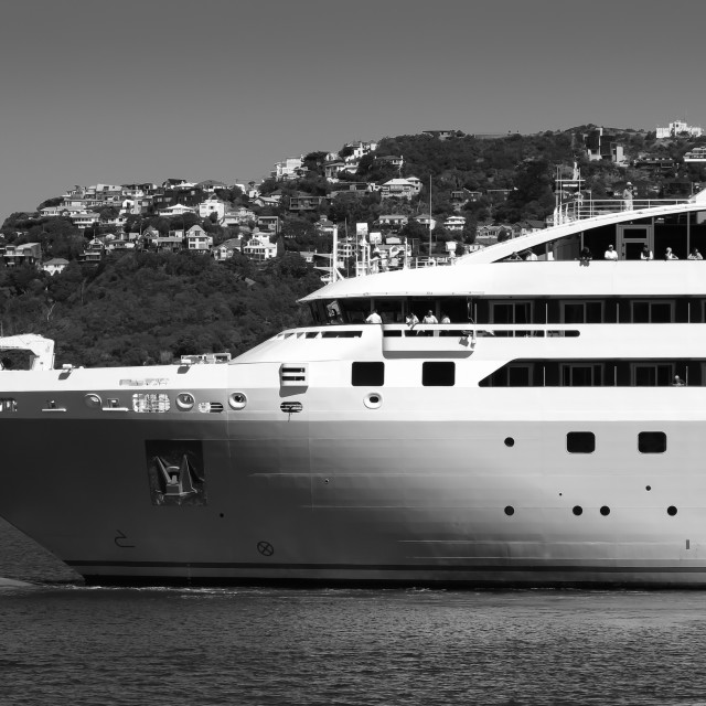 """cruise ship in mono"" stock image"
