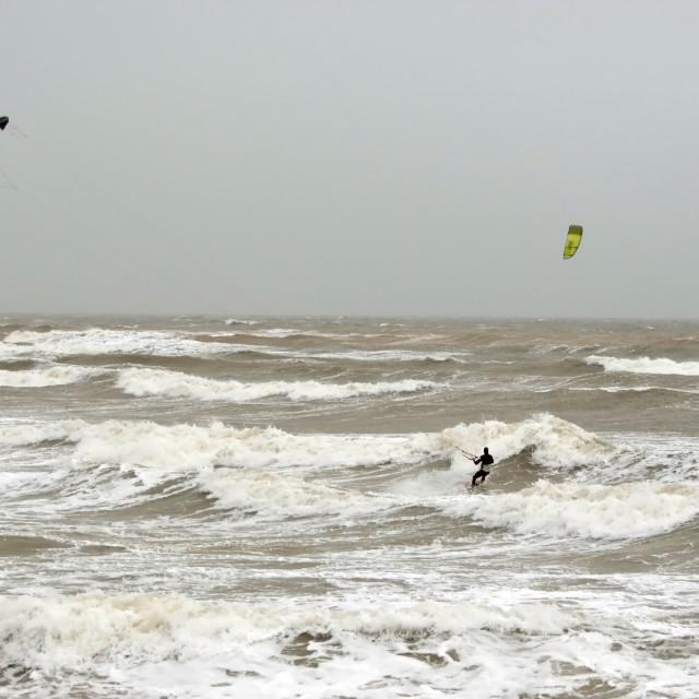 """Para-surfing at Weymouth"" stock image"