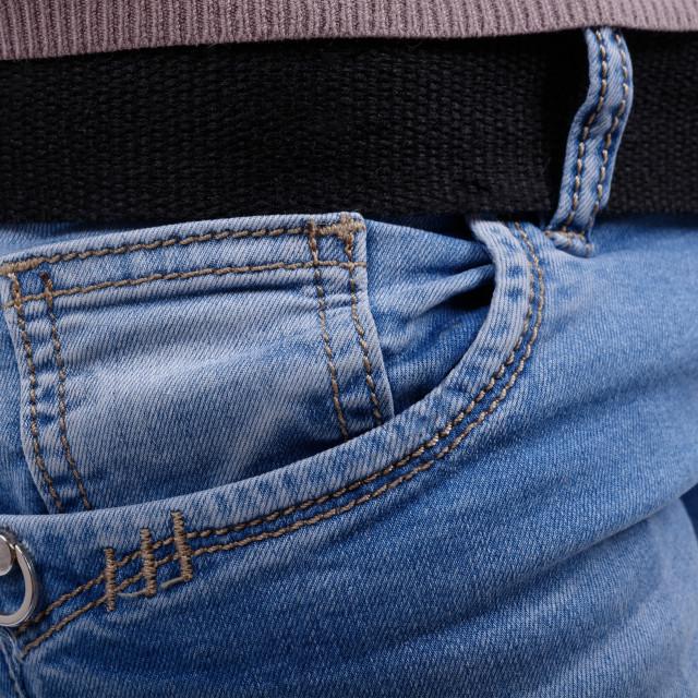 """Pocket denim trousers"" stock image"