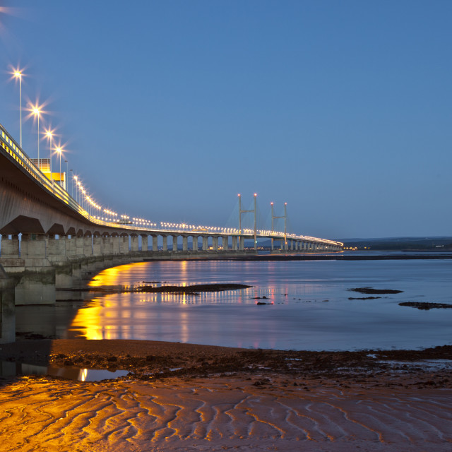 """Second Severn Crossing"" stock image"