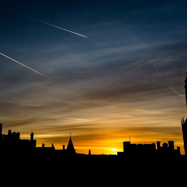 """Sunset over Windsor"" stock image"