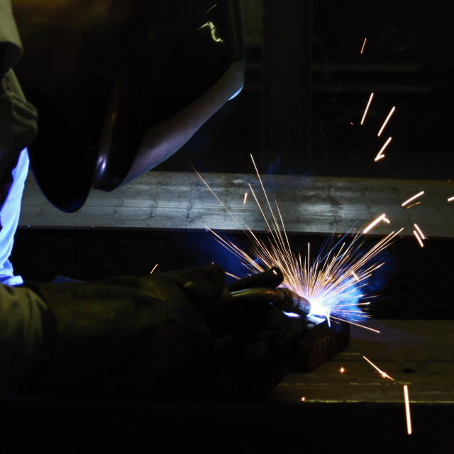 """Welding in protective atmosphere of gases"" stock image"