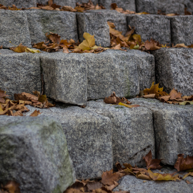 """Autumn Stone Blocks"" stock image"