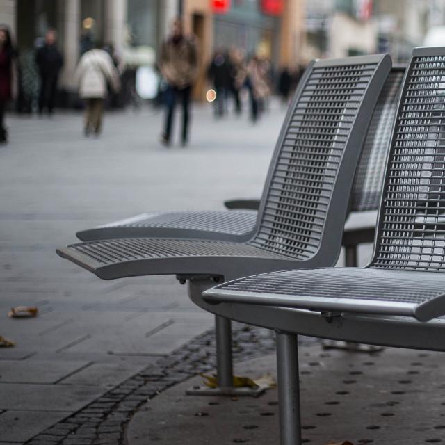 """Metal Seats"" stock image"