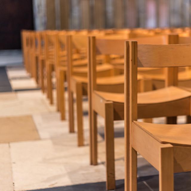"""Church Chairs"" stock image"