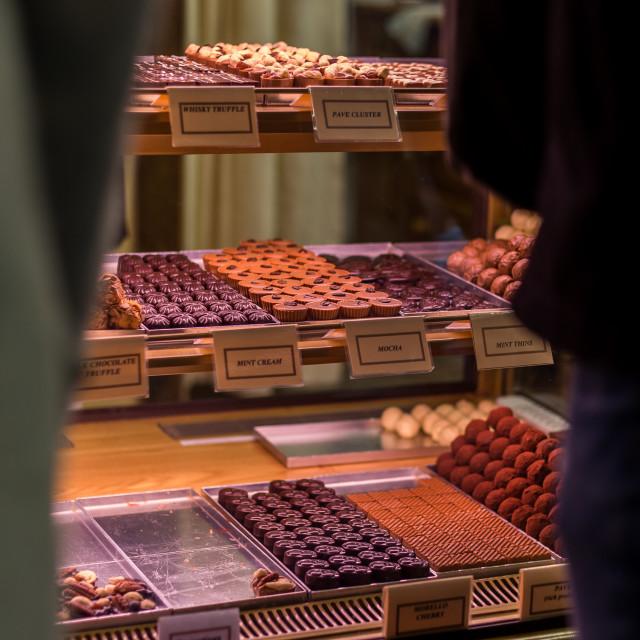 """Chocolatier"" stock image"