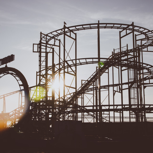 """Amusements at Brighton Pier"" stock image"