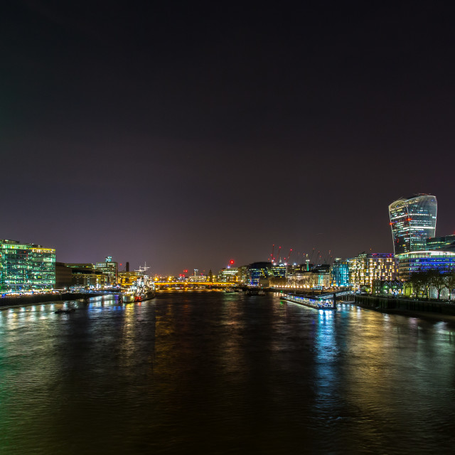 """London from Tower Bridge"" stock image"