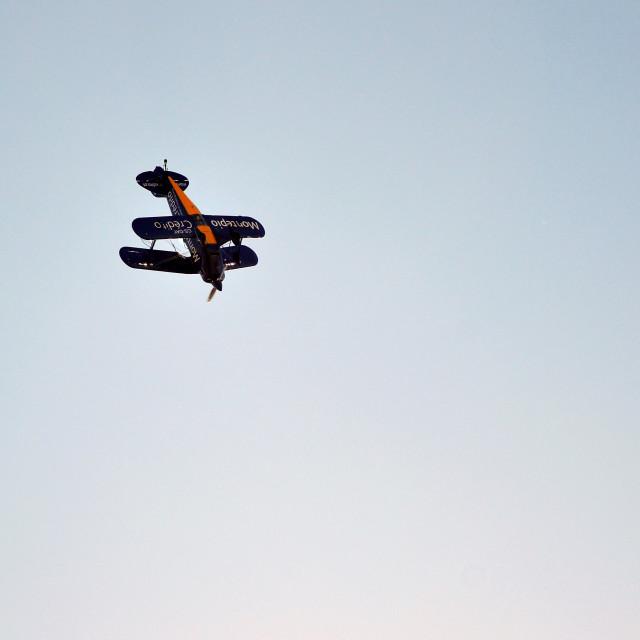 """Plane doing stunts"" stock image"