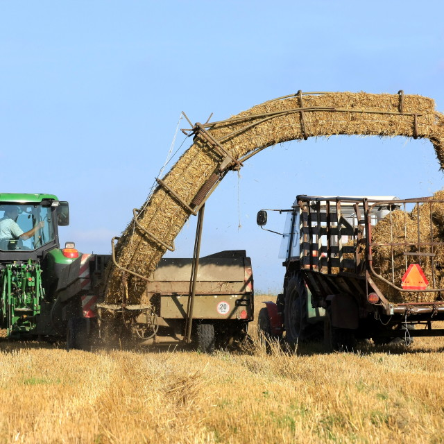 """Straw bale and agricultural engineering"" stock image"
