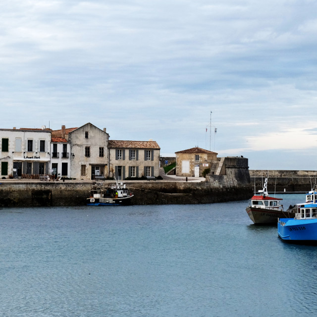 """Cloudy day in St Martin de Ré"" stock image"