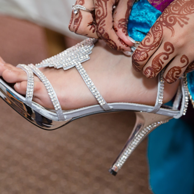 """Brides shoes"" stock image"