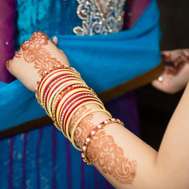 """Henna bangles"" stock image"