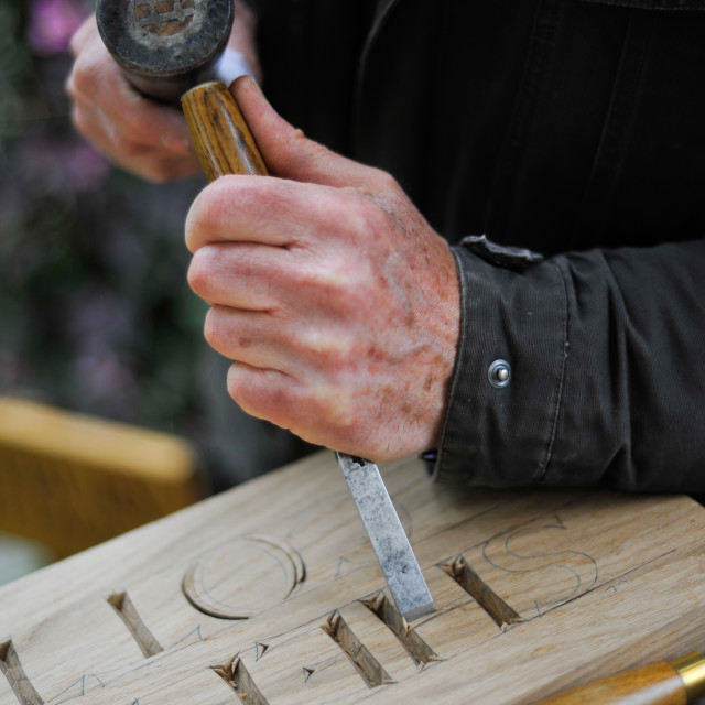 """Hand carving"" stock image"