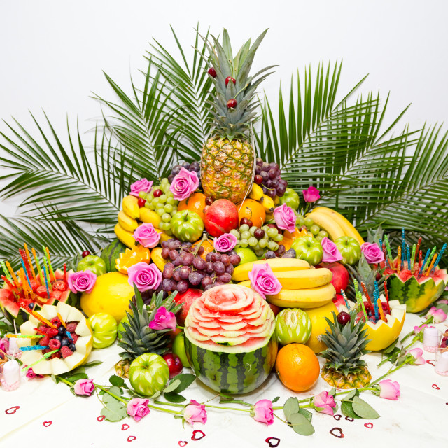 """Fruit display"" stock image"