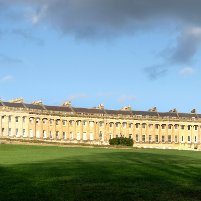 """Royal Crescent Bath"" stock image"