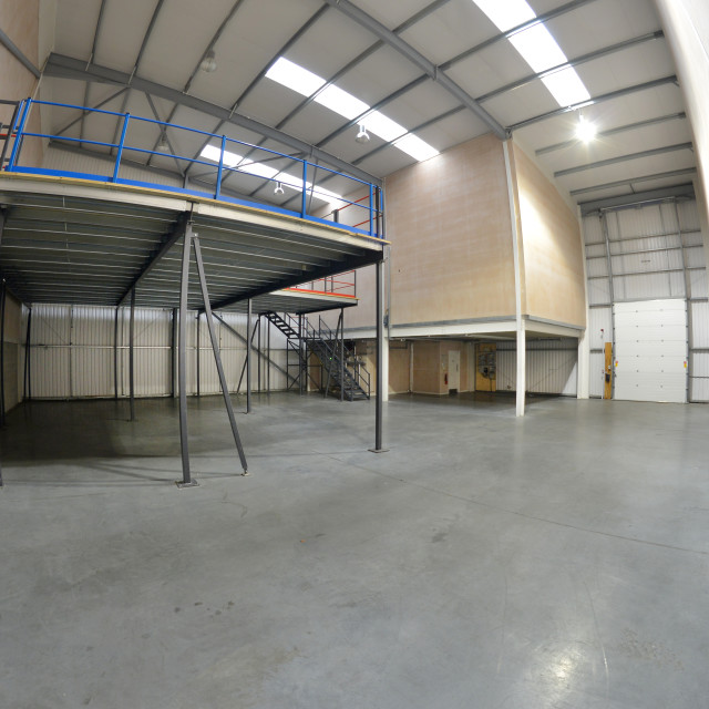 """empty warehouse area"" stock image"