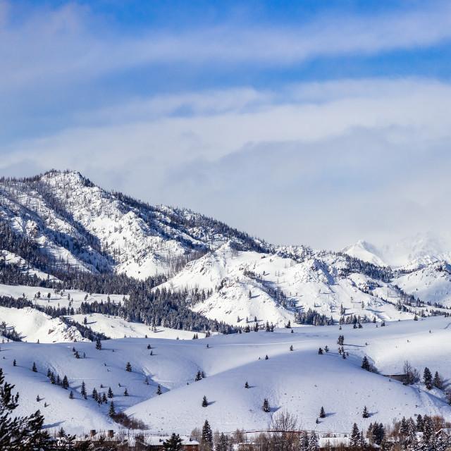 """""""Sun Valley, Idaho"""" stock image"""