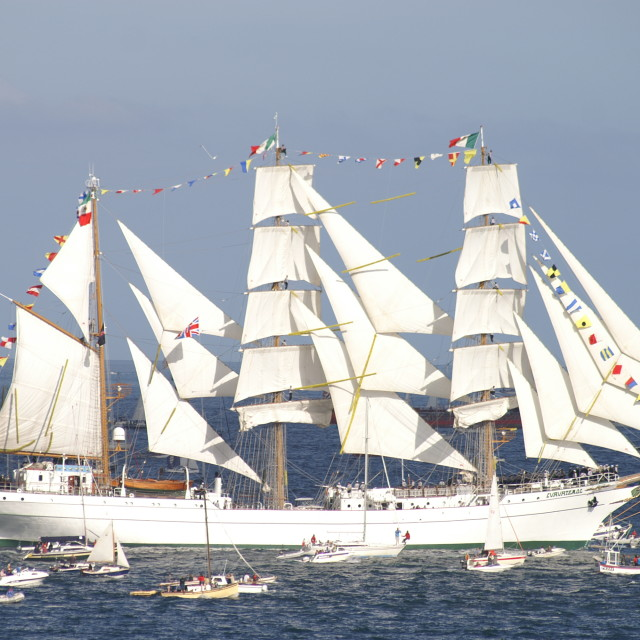 """Cuauhtémoc Tall Ship in Full Sail"" stock image"