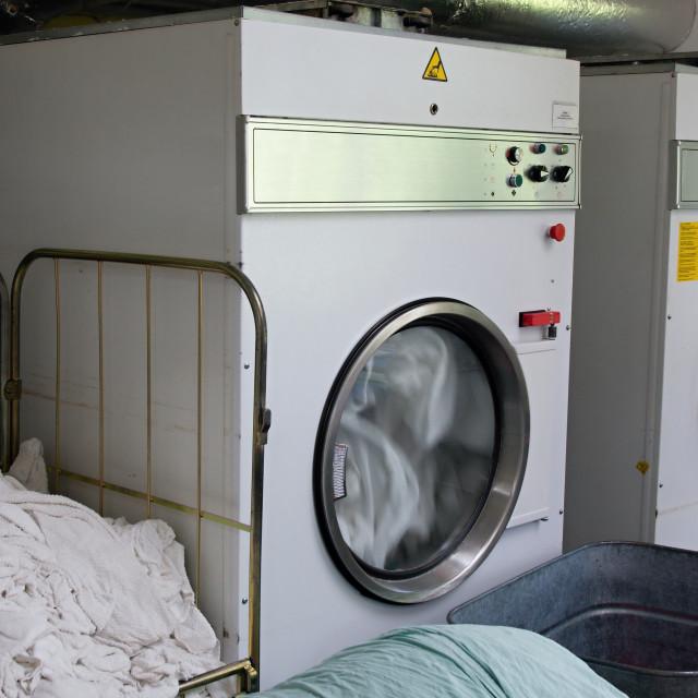 """Laundromat dryers"" stock image"
