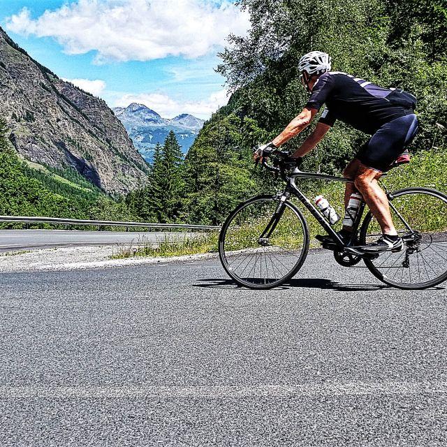 """Cyclist Descending"" stock image"