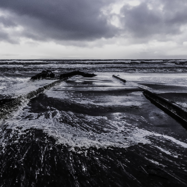 """Ayr Beach"" stock image"