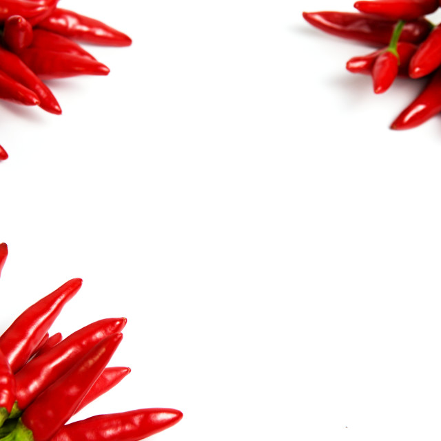 """""""Red hot chilly peppers"""" stock image"""