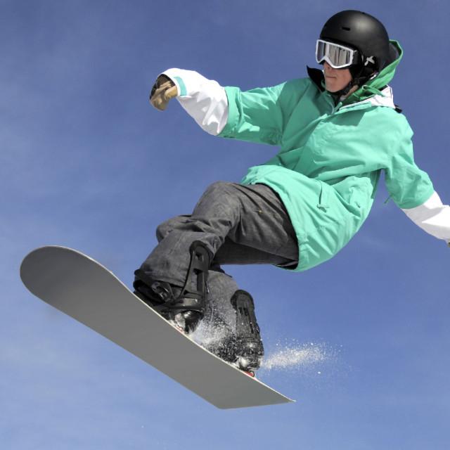 """snowboard jumping"" stock image"