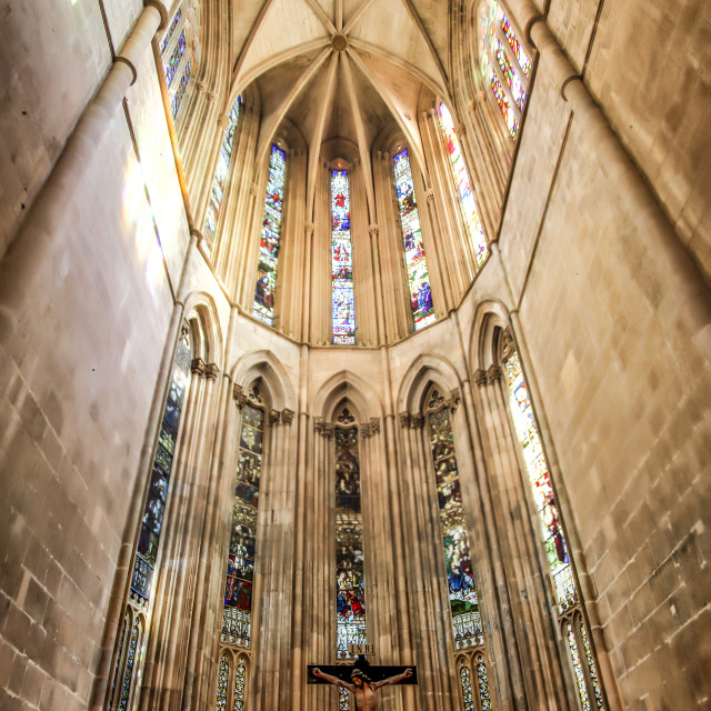 """Alter at Batalha Monastery"" stock image"