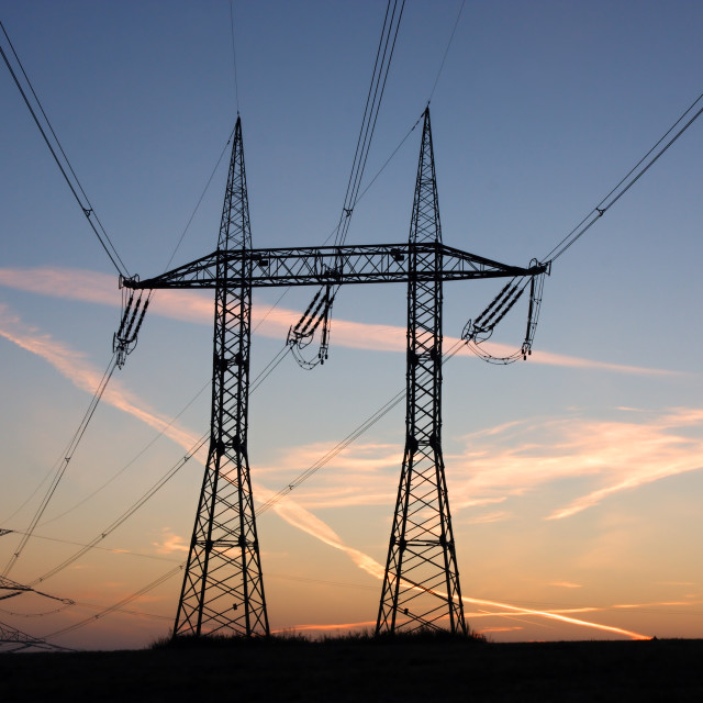 """""""Electricity pylons"""" stock image"""