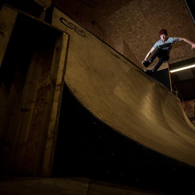 """""""Skater Grind"""" stock image"""