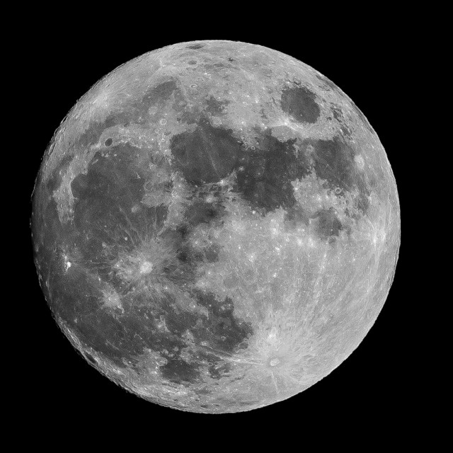 """Xmas Eve Moon"" stock image"