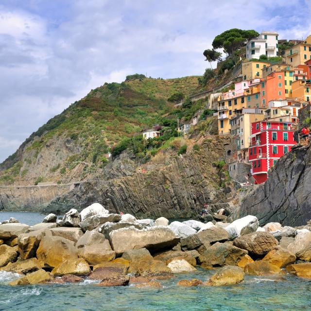 """""""Riomaggiore village - Italia"""" stock image"""