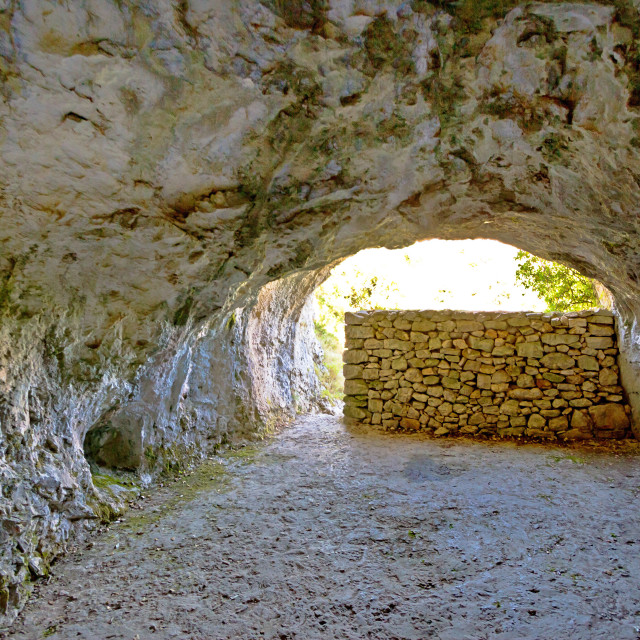 """""""Tito's cave on Vis island"""" stock image"""