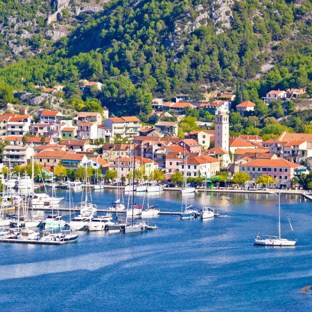 """""""Town of Skradin waterfront view"""" stock image"""
