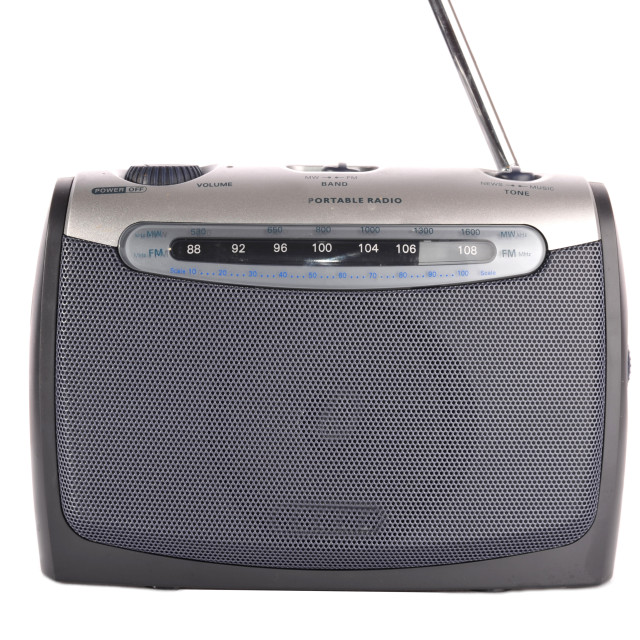 """retro grey radio"" stock image"