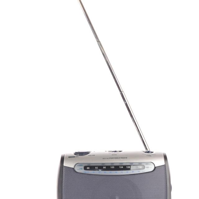 """retro radio on white"" stock image"