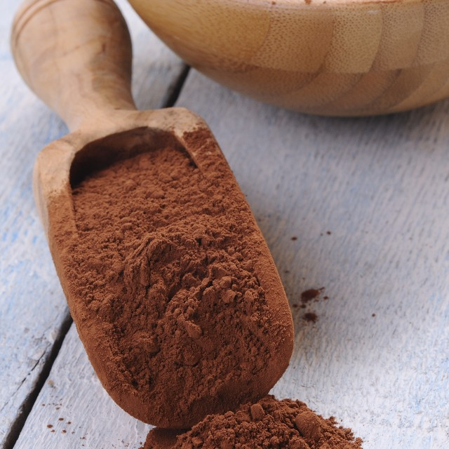 """Wooden spoon of cocoa"" stock image"